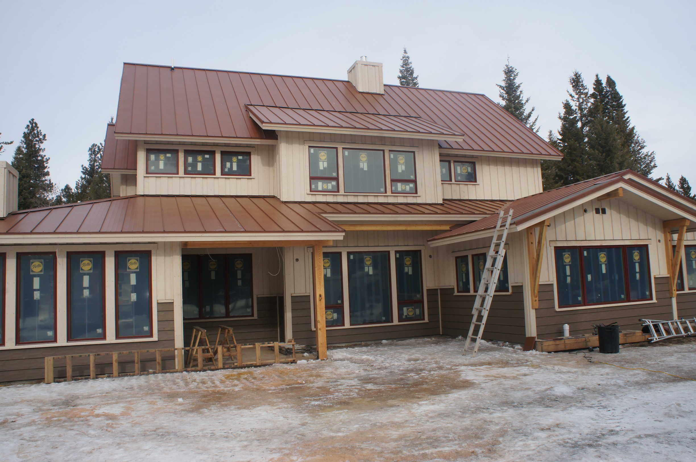 Builder grade windows on a new house